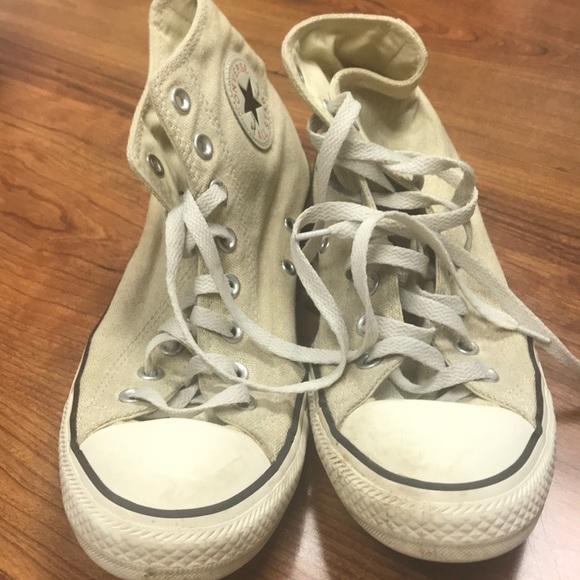 e50fc864ccad52 Converse Shoes - Cream color Converse High Top M8 W10 slightly worn